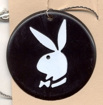 PLAYBOY BUNNY PENDANT NECKLACE-Vintage Retro Charm Funky Jewelry - $3.97