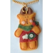 REINDEER COUNTRY PENDANT NECKLACE-Patchwork Holiday Deer Jewelry - $4.97