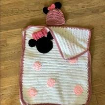 Hand crochet Mini Mouse baby sleeping bag & Hat - $34.65