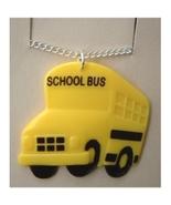 SCHOOL BUS PENDANT NECKLACE-Funky Driver Charm Teacher Jewelry - $3.97