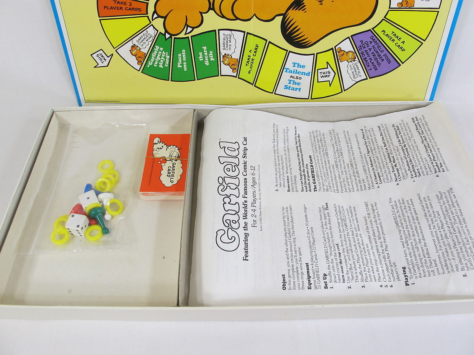 Garfield 1981 Board Game Parker Brothers 100% Complete Excellent Bilingual image 4
