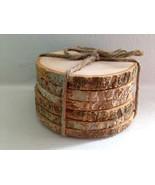 Rustic Wood Coasters Wood Slice Coasters Tree Bark Slice Tree Slices Woo... - $20.00