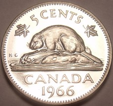 Proof Canada 1966 Beaver Nickel~Proof Coins Are The Mints Best Work~Free... - $4.45