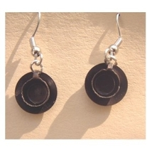 COFFEE TEA CUP SAUCER EARRINGS-METAL Drink Charm Funky Jewelry - $4.97