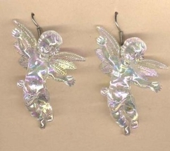 CUPID CHERUB EARRINGS-HUGE Baby ANGEL Love Charm Jewelry-IRRID - $4.97
