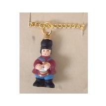 DRUMMER BOY PENDANT NECKLACE-Tiny Resin Nutcracker Charm Jewelry - $6.97