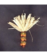 Funky INDIAN CORN BEAD PIN BROOCH-Thanksgiving Halloween Harvest Costume... - $6.97