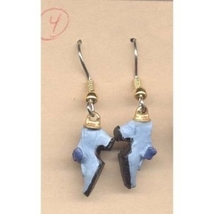 SHOES EARRINGS-Mini Footwear Collector Charm Funky Jewelry-BLUE - $6.97