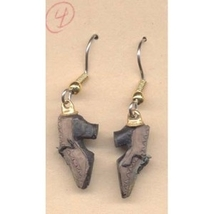 SHOES EARRINGS - Mini Collector Diva Charm Funky Jewelry-BROWN - $6.97