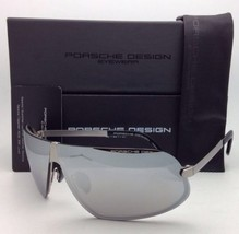 Neu Porsche Design Sonnenbrille P'8564 A 77-02 Titan Rahmen mit / Silber