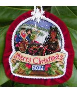 Sleigh Ride 2014 Snowglobe Ornament cross stitch chart Blackberry Lane Des - $14.40