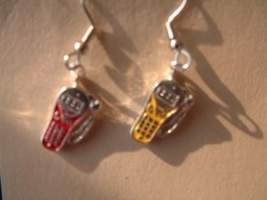 CELL PHONE EARRINGS - Wireless Telephone Teen Charm Jewelry -C - $4.97