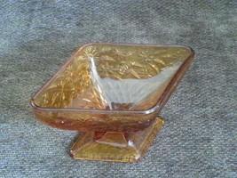 Amber Depression Diamond Shape Candy Condiment ... - $10.40