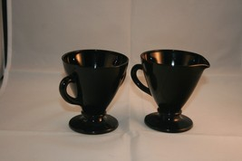 Vintage Black Amethyst Creamer and Sugar Bowl - $14.90
