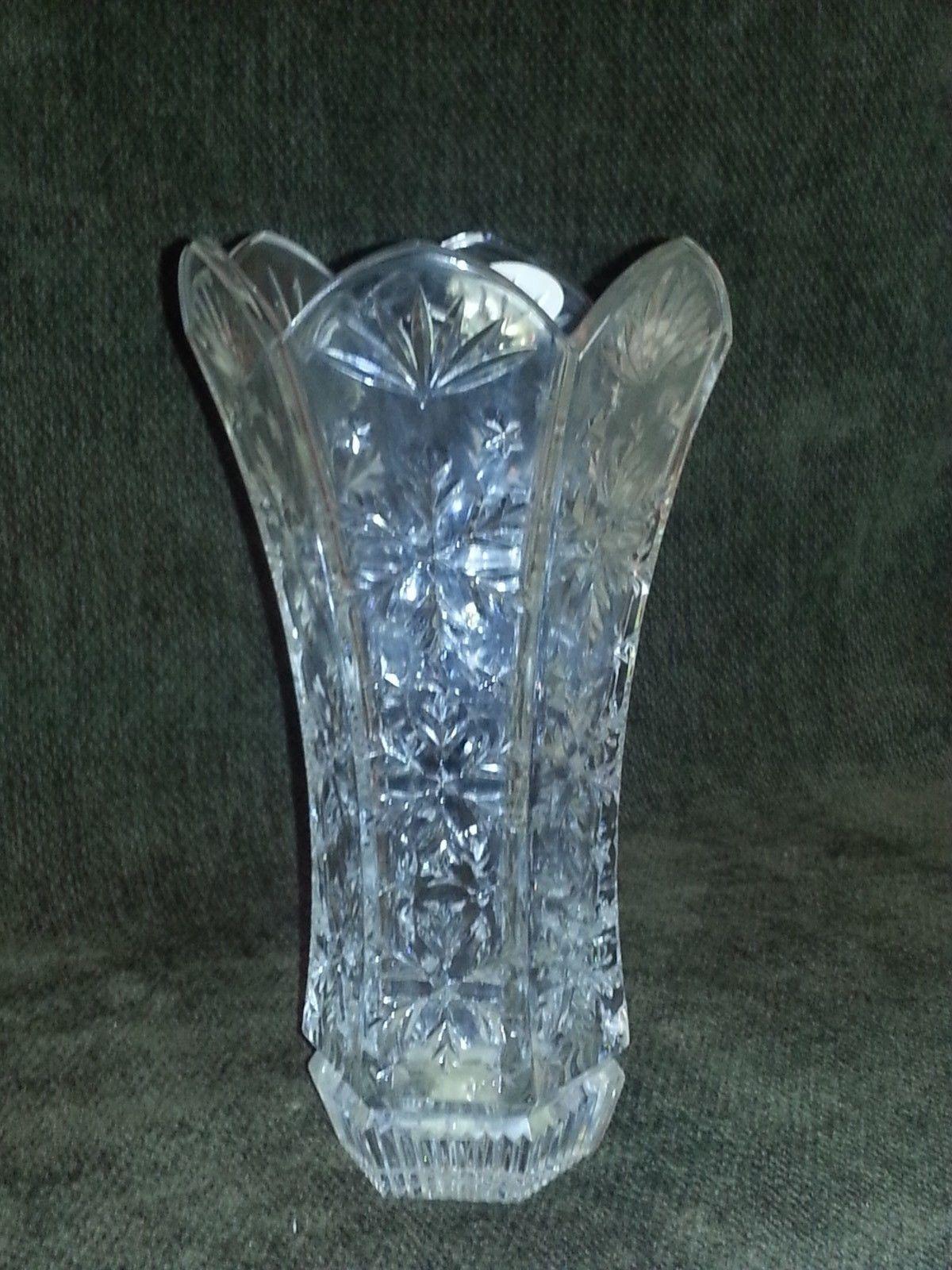Tall Lead Crystal Vase Deplomb Amp Deplomo Crystal