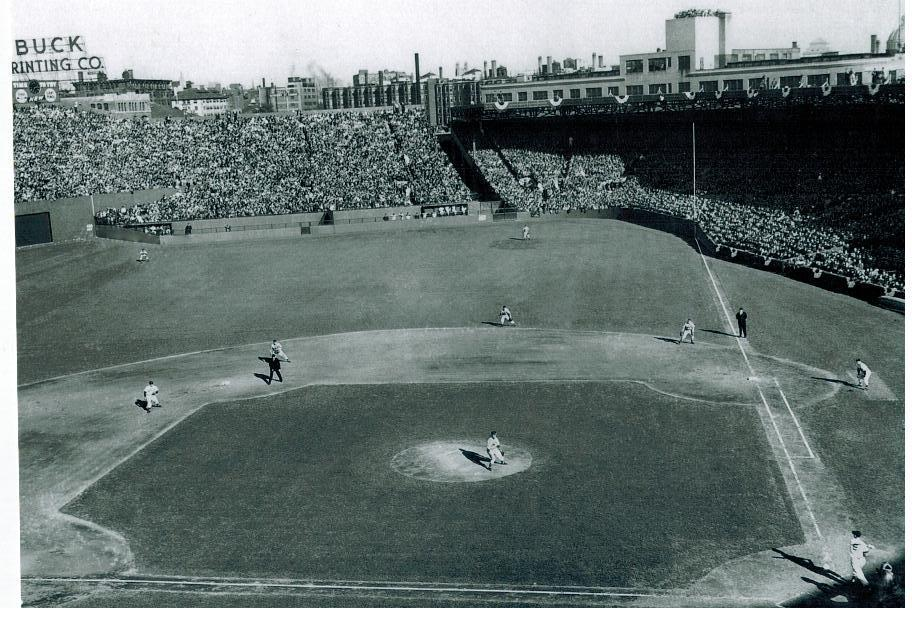 Primary image for Fenway Park 1946 Boston Red Sox Vintage 8X10 BW Baseball Memorabilia Photo