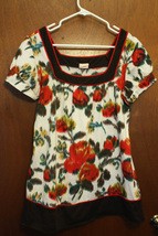 Studio Y Watercolor Floral T-Shirt - Size XL - $8.99