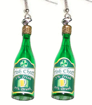 5%IRISH 95%DRUNK FUNKY EARRINGS-Whiskey Beer Bar Novelty Jewelry - $8.97