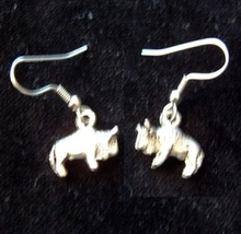 BUFFALO BISON EARRINGS-Rodeo Cowboy Western Animal Charm Jewelry - $6.97