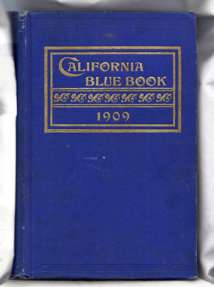 Blue Covered Book ~ Book california blue american history hardcover