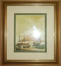 2001 Signed C M Escobar Watercolor Ship Art Painting - $288.53