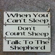 Wooden Primitive Signs P60994D - Talk to the Shepherd Sign - $8.95