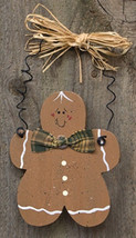 D0035CWC - Gingerbread Man Ornament wood - $2.25