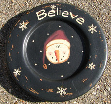 Wood 203698 Believe Snowman plate - $4.95
