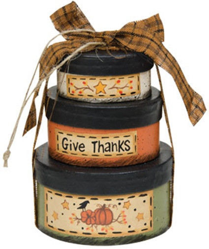 Primary image for GM3775 - Fall s/3 Nesting Boxes Paper Mache'