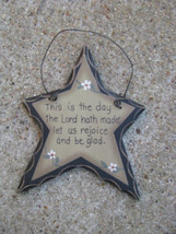 Primitive Wood. Hanging  Star 805 Rejoice Star - $1.95