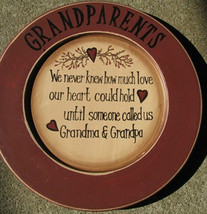 Primitive Wood Plate P11GP- Grandparents Plate - $10.95