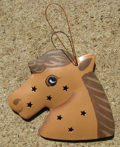 Metal Ornament or333 - Horse Metal 3d Tin Punched - $1.95