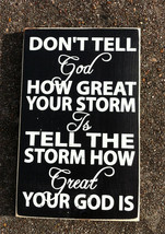 Primitive Wood Sign 35832 The Storm Sign - $11.95