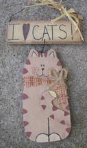 CW0389 - I Love Cats Wood Sign  - $3.95