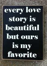 Primitive Wood Box Sign PD61026 - Favorite Story  - $7.95