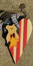Wood Heart 2035-Bear on Heart - $2.50