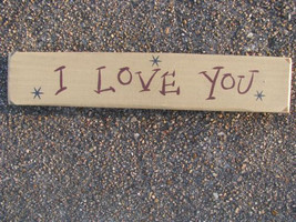 9003ILY-I Love You  Wood Block - $5.95