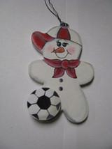 Wooden Snowman  WD1058 - Soccer  Snowman - $1.75