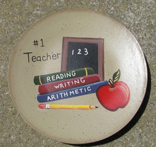 Primitive Wood new 8 ABC Teacher Plate - $3.95