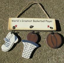 Wooden Sign 1200B-WorldGreatestBasketballPlayer - $1.95