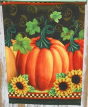 Fall garden flags 2408 PUMPKIN SUNFLOWERGARDEN FLAG - $8.95