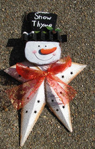 Tin Christmas Ornament 61809 Snow Thyme Snowman - $3.95