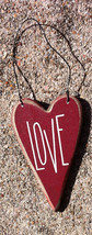 Wood Valentine Heart RO495 Love Heart - $2.25