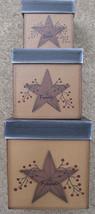 G31461 - Star & Berry 3/Set Boxes Primitive Paper Mache' - $21.95
