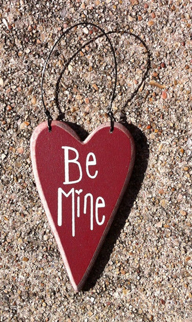 Primary image for Wood Valentine Heart ro-493 Be Mine