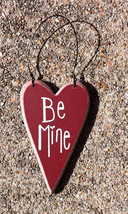 Wood Valentine Heart ro-493 Be Mine - $2.25