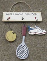 Wooden Sign 1200D-Worlds Greatest Tennis Player - $1.95