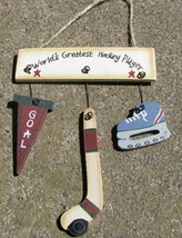 Wood Sign 1200H-Worlds Greatest Hockey Player - $1.95