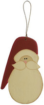 Wood Santa Christmas Ornament R0409 - Santa Face Ornament - $2.95