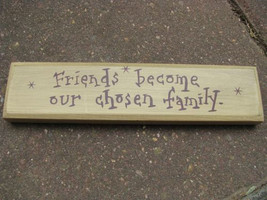 m9906f - Friends our chosen family wood block - $5.95